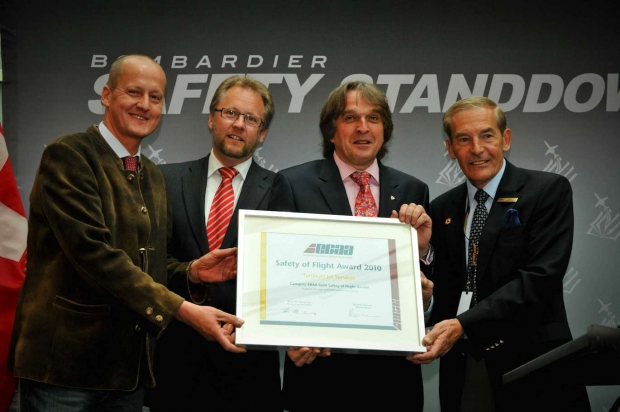 EBAA Golden Safety Award - Tyrolean Jet Services - Christian Fischer - Thomas Reiner - Martin Lener - Brian Humphries.jpg