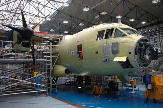 First RAAF C-27J assembly completed.jpg