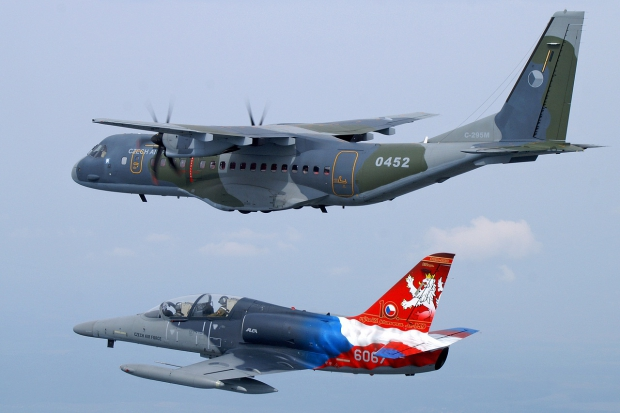 Czech_Air_Force_Aero_L-159_and_CASA_C-295_inflight.jpg