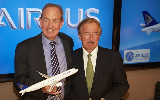 ven Airbus A320neos at Paris Airshow with Steven Udvar-Házy, Chairman and Chief Executive Officer, Air Lease Corporation.jpg