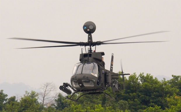 croatie,bell textron,bell oh-58d kiowa,oh-58 warrior,blog defense,infos aviation,les nouvelles de l'aviation