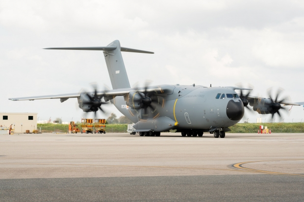 Luxembourg Armed Forces A400M makes its maiden flight.jpg