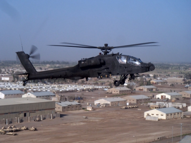 AH-64D Longbow Apache over Taji, Iraq 2006.JPG