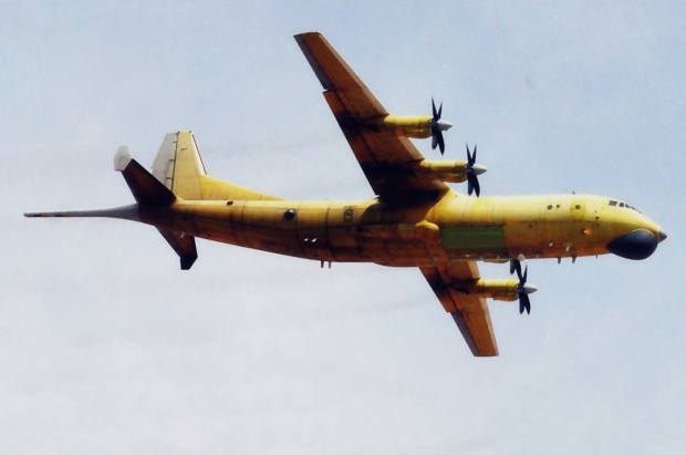 Y-8GX6 four-engine turboprop anti-submarine and maritime surveillance aircraft Chinese P-3C People's Liberation Army Navy (PLA export pakitan naval mines t torpedoes Active passive Sonobuoys anti-sh (1).jpg