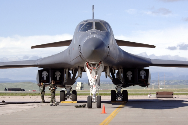 B-1B_Lancer_Awaits_Inspection.JPG