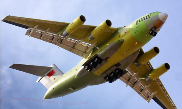 xian y-20,avion cargo,transport militaire