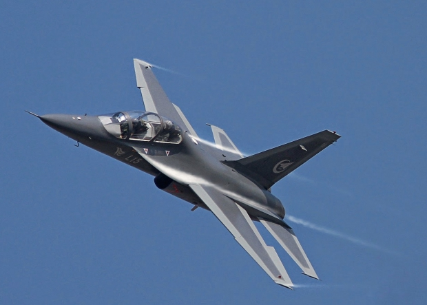 PLA Hongdu L-15 Falcon supersonic training and light attack aircraft.jpg
